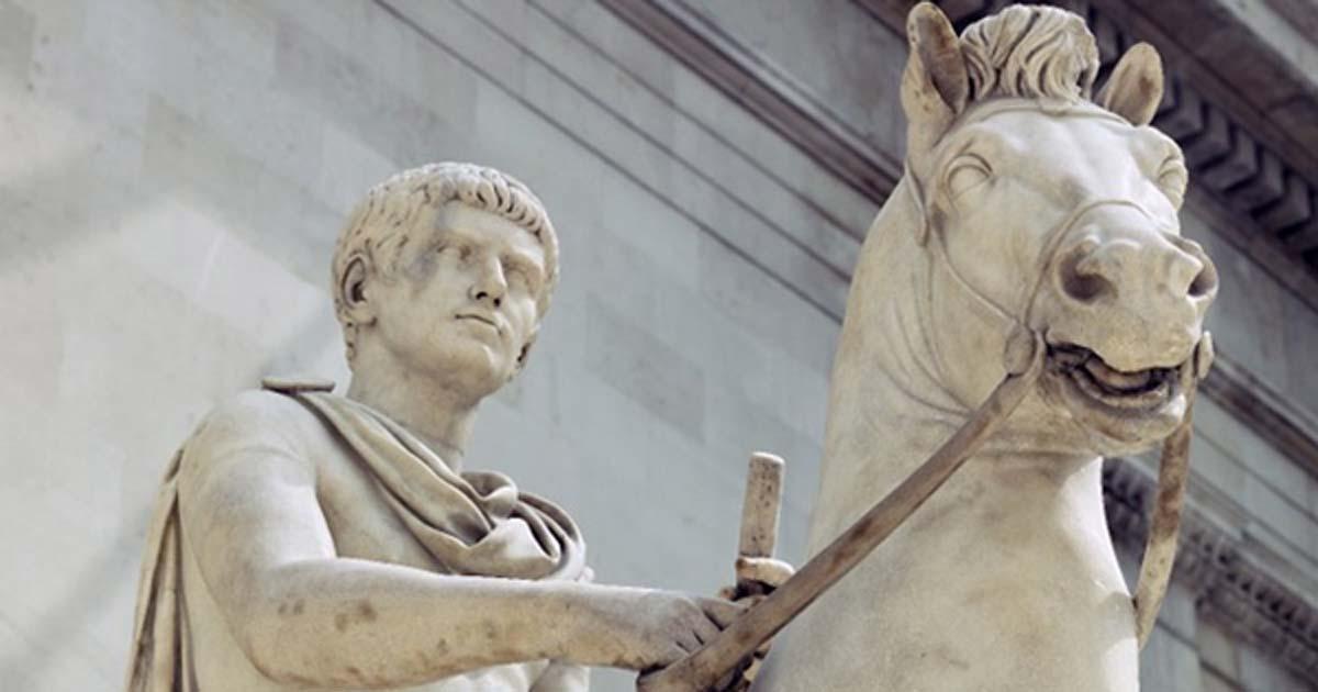 Calígula con su caballo Incitatus