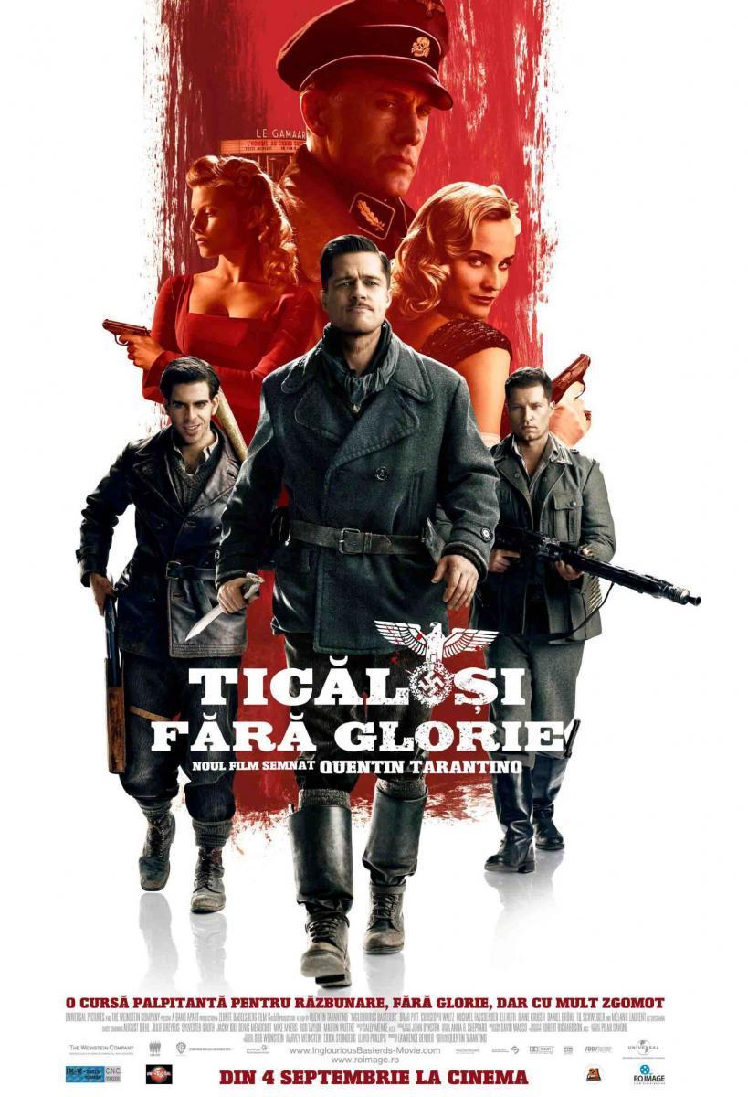 Cartel oficial de la película Inglourious Basterds de Tarantino
