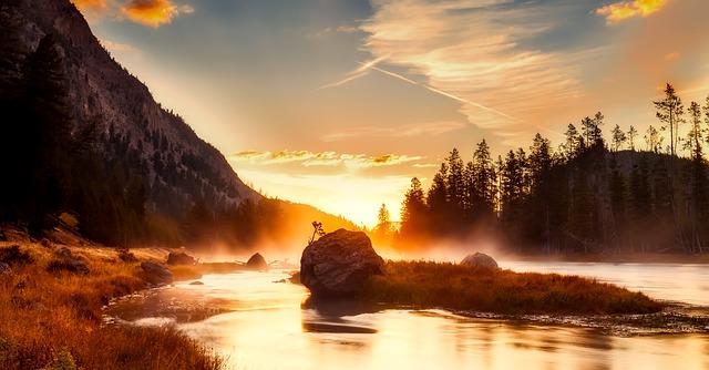 Paisaje del Parque Nacional de Yellowstone