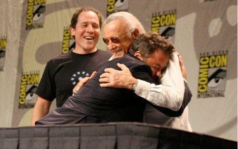 Robert Downey Jr., Stan Lee y Jon Favreau