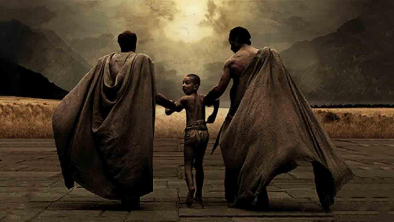 Entrada al Agoge de los niños espartanos