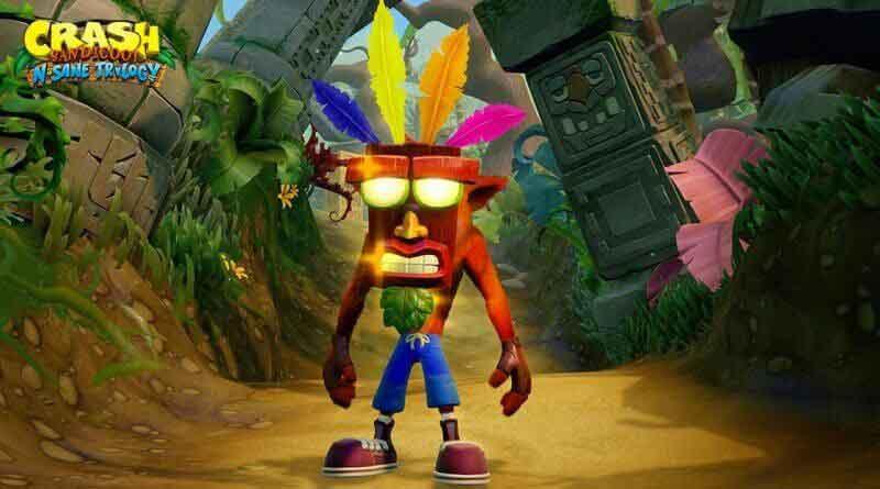 Crash Bandicoot con Aku Aku