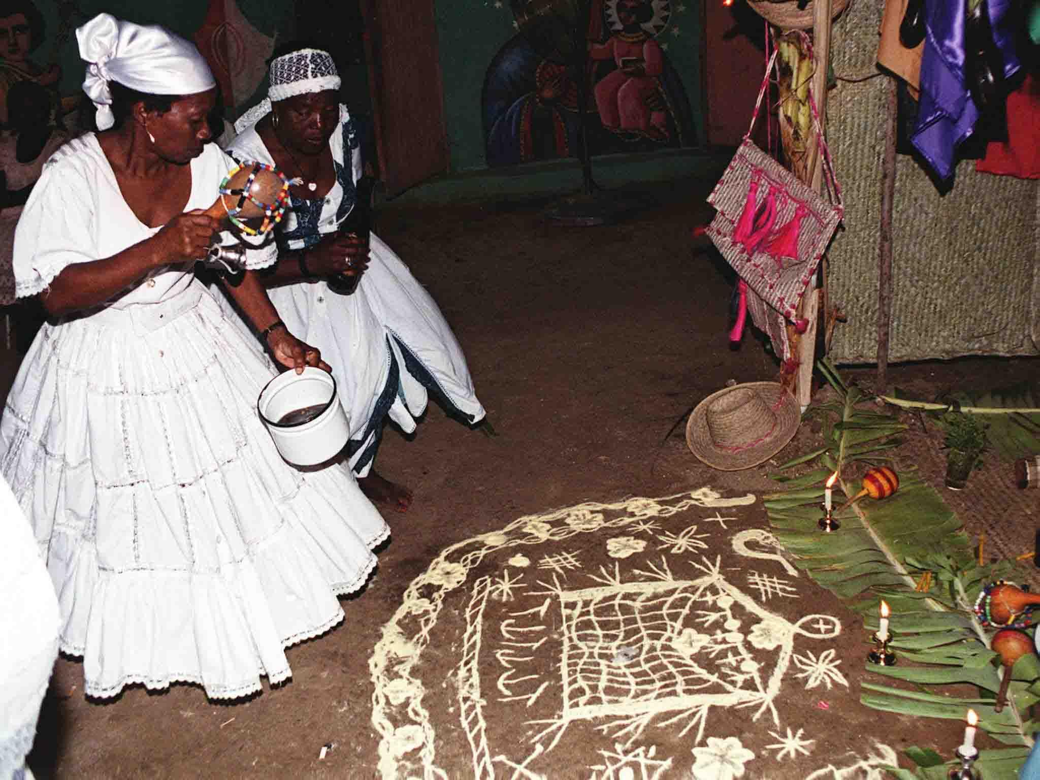 Ceremonia vudú haitiana