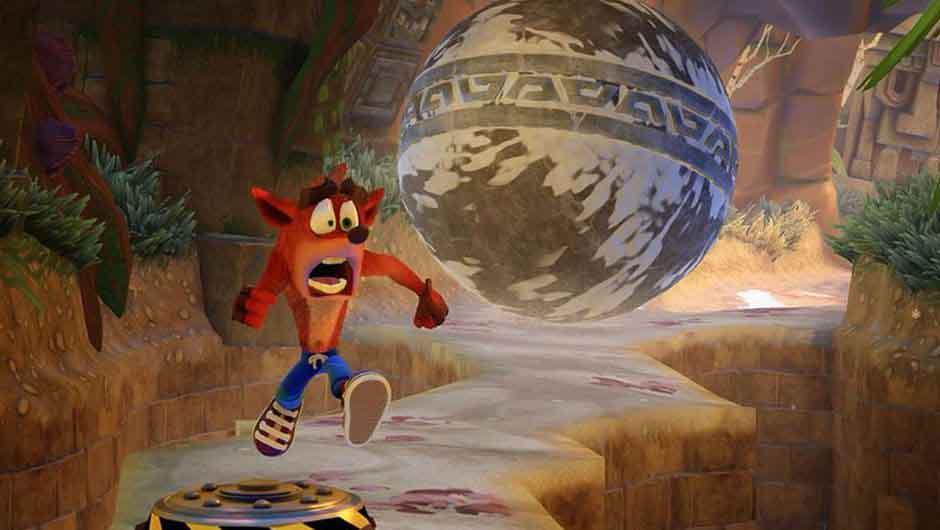 Referencia de Crash Bandicoot a Indiana Jones