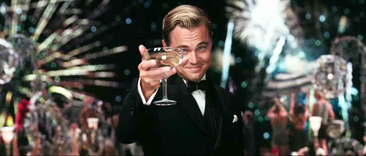 Escena de El gran Gatsby, película que representa la revolución económica de los años 20