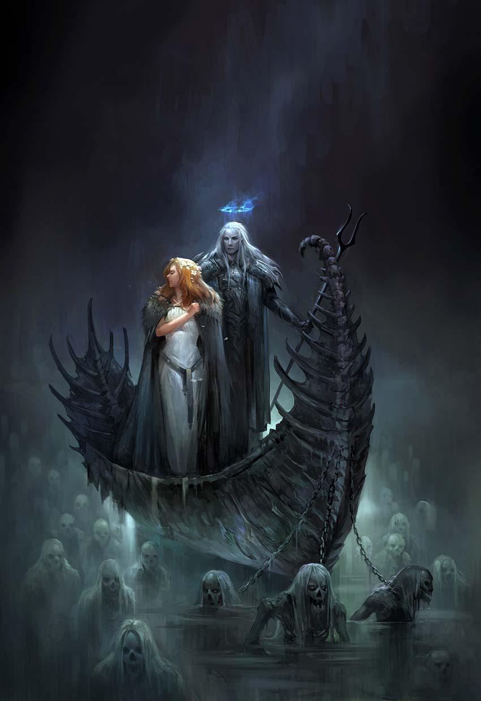 Hades llevándose a Perséfone al Inframundo