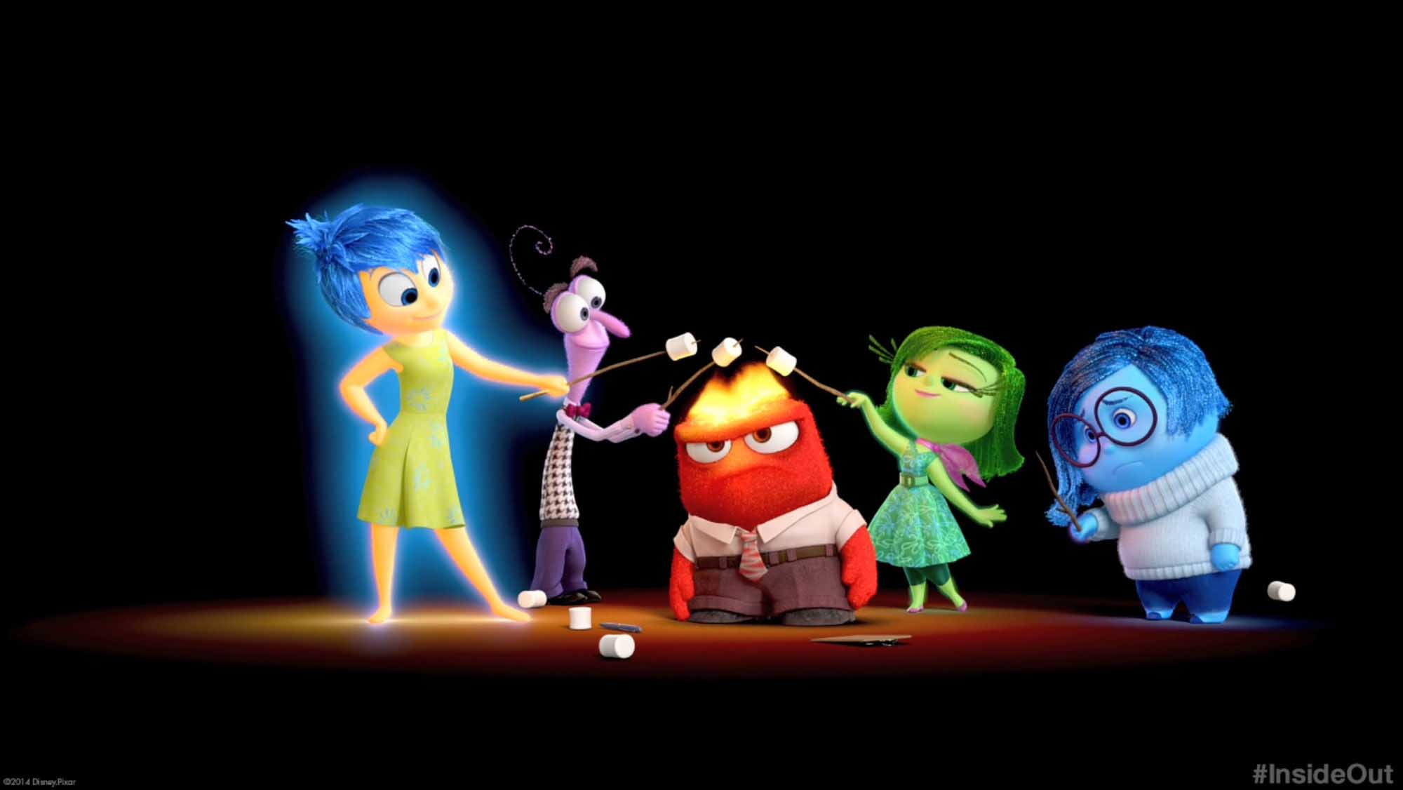 Película Inside out representando las cinco emociones básicas de Paul Ekman
