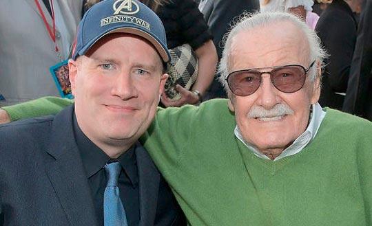 Kevin Feige, presidente de Marvel Studios, con Stan Lee