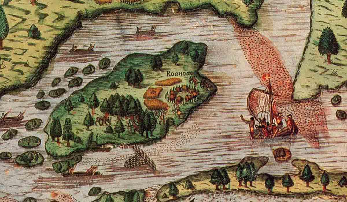 Mapa de Roanoke