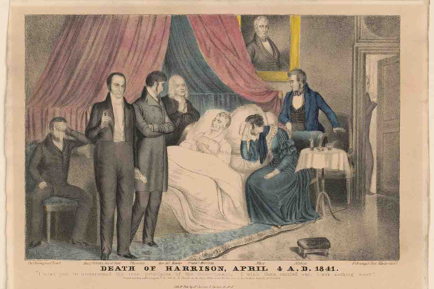 Muerte del presidente Harrison