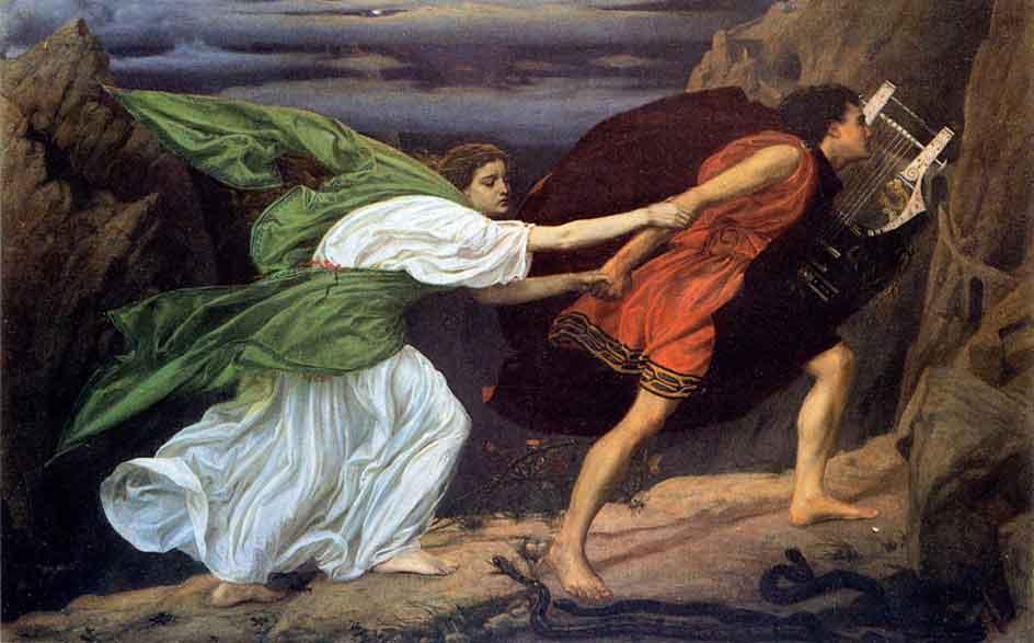 Orfeo y Eurídice saliendo del inframundo