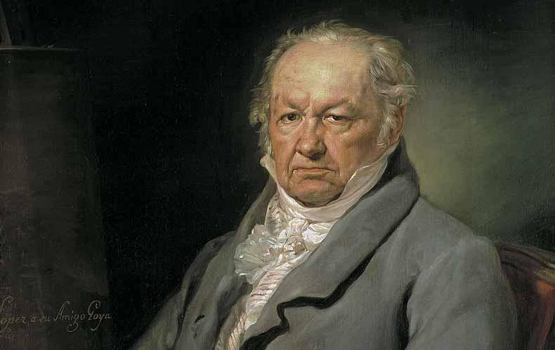 Retrato de Francisco de Goya por Vicente López, expuesto en el Museo del Prado, Madrid