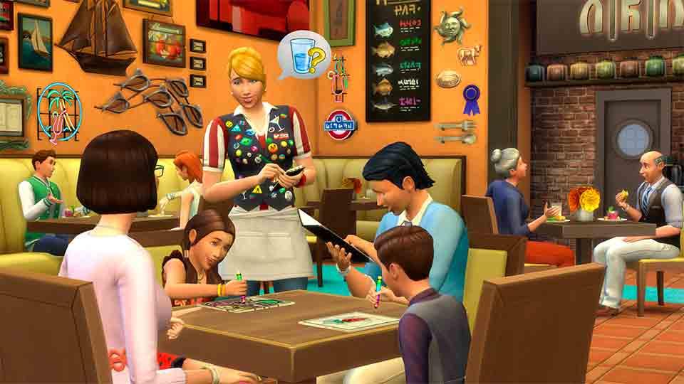 Cafetería de Sims