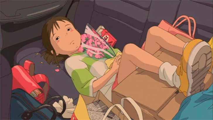 ChihiroEscena del inicio de El viaje de Chihiro