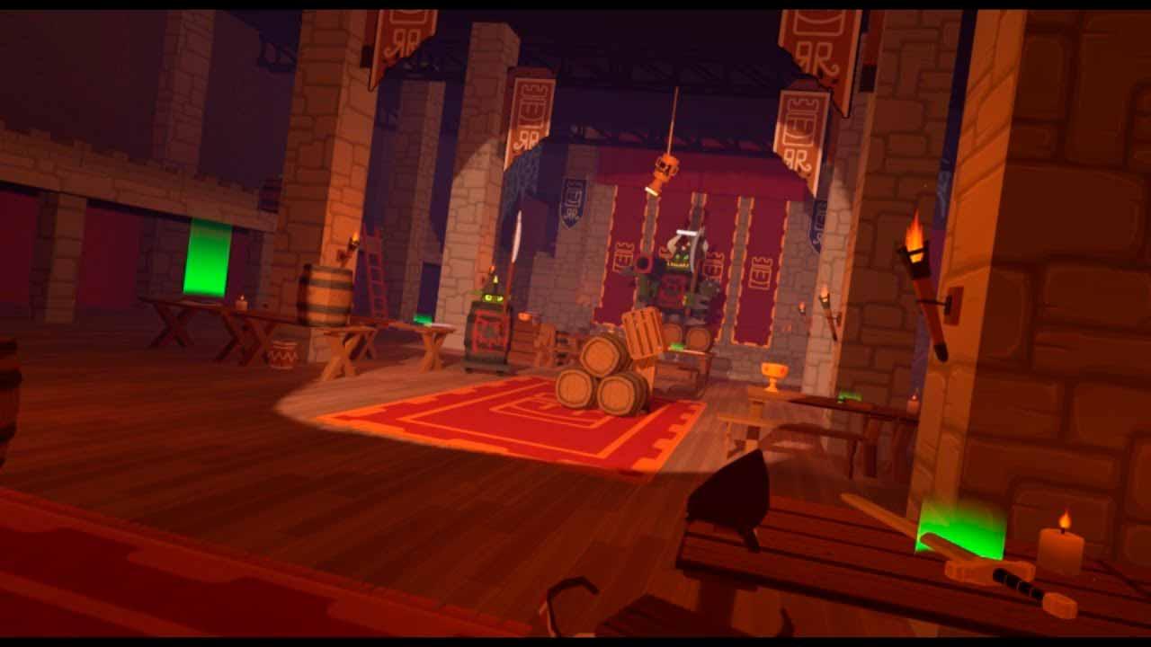 Escena del videojuego Crimson Room