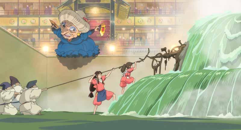Momento en el que Chihiro descubre al espíritu del río