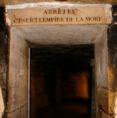 Entrada a las Catacumbas de París