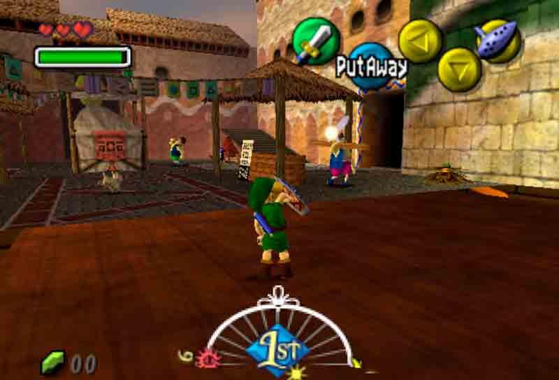 Escena del primero de los tres días en Zelda Majora's Mask
