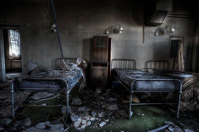 Fotografía real de una habitación de la zona residencial del hospital psiquiátrico de Gonjiam