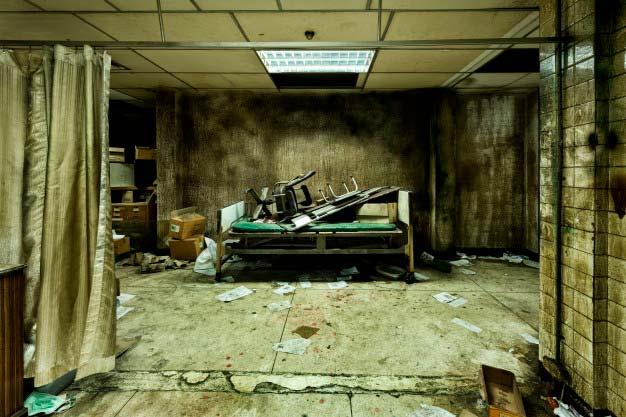 Fotografía real de una sala médica del hospital