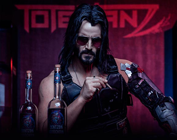 El actor Keanu Reeves representado en el videojuego Cyberpunk 2077