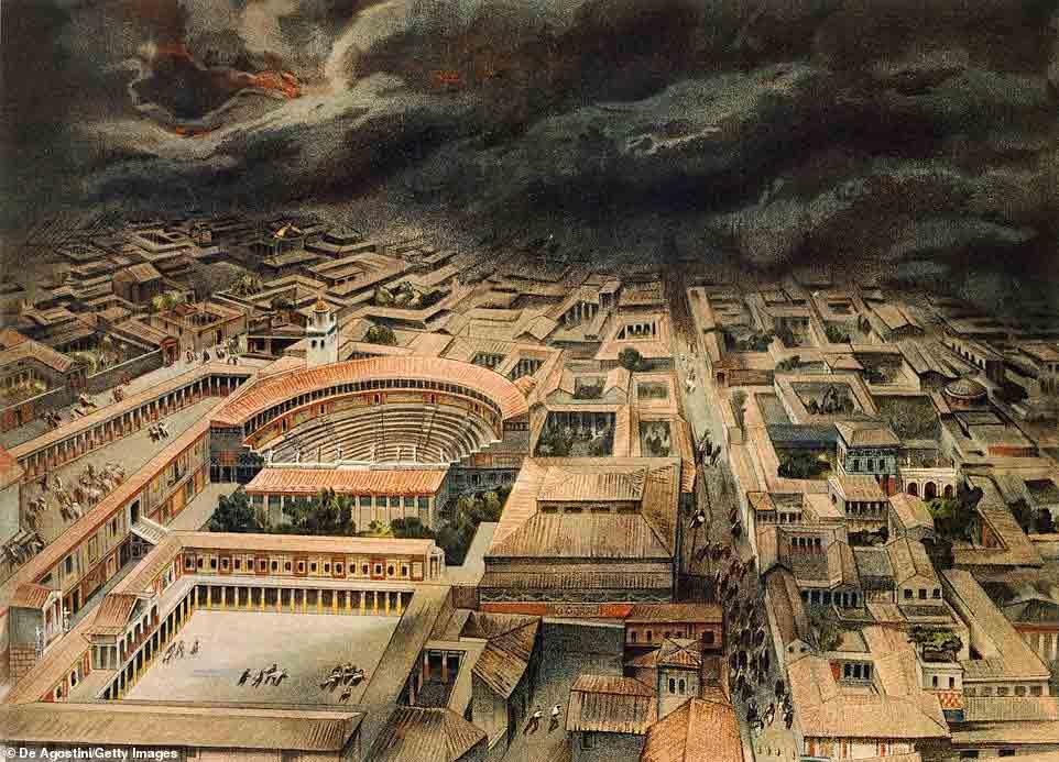 La nube de ceniza en Pompeya