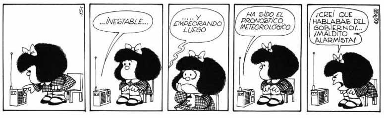 Mafalda y las cosas que pasan en el mundo