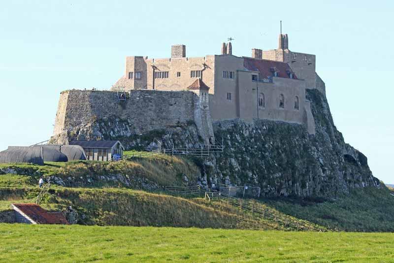 Monasterio de Lindisfarne en Northumbria, Inglaterra