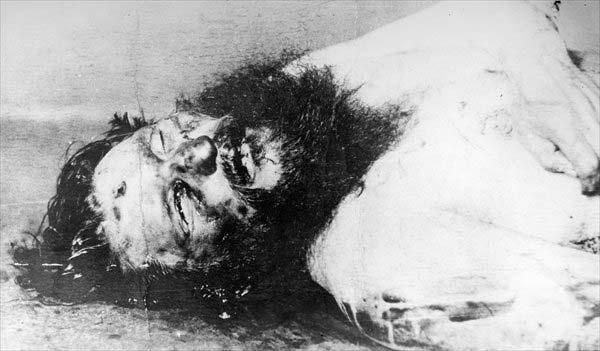 El cuerpo sin vida de Rasputín