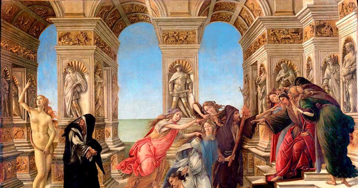 Pintura de Botticelli del Rey Midas
