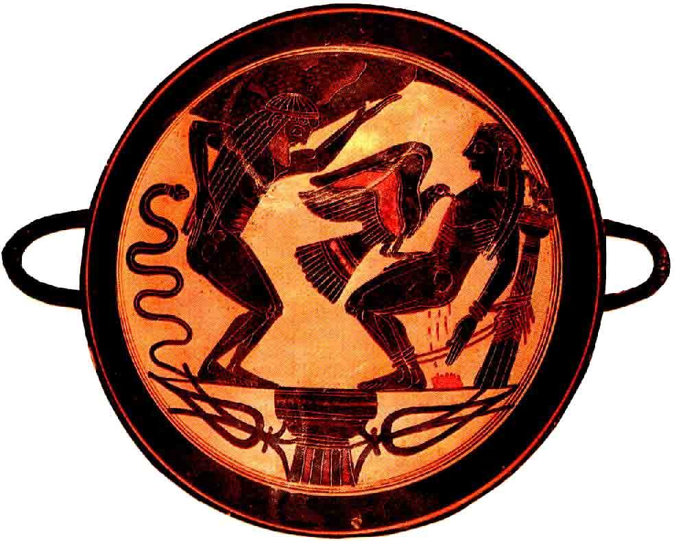 Vasija con la imagen del águila devorando a Prometeo