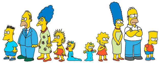 El antes y después de Los Simpson