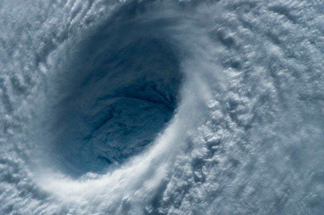 El ojo de un huracán