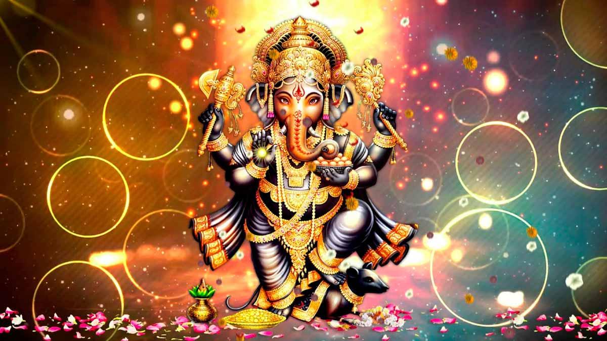 Ganesha, el Dios mitológico hindú con cabeza de elefante