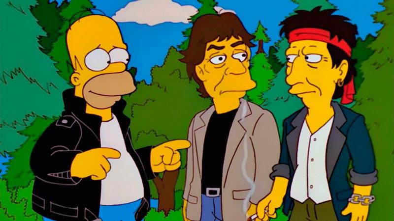 Una de las apariciones estelares en Los Simpson, los Rolling Stones