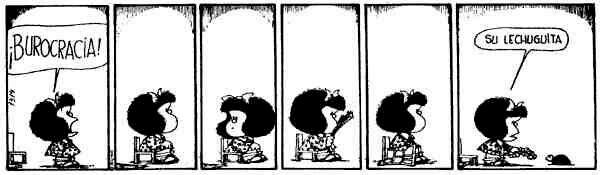 Mafalda y la burocracia