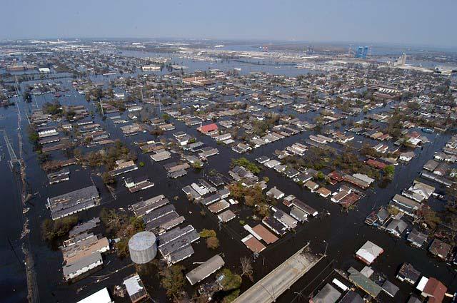 Inundaciones en New Orleans, Luisiana, tras el Huracán Katrina
