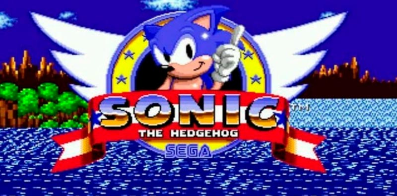 Pantalla inicial de Sonic, con la insignia de aviación