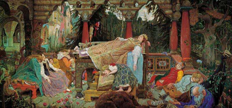 Representación de la bella durmiente