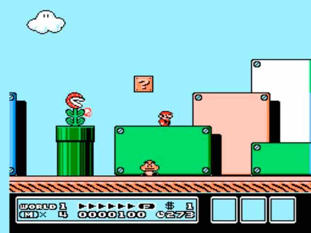 Pantalla del Super Mario Bros 3