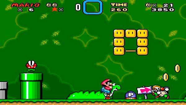 Mario y Yoshi en Super Mario World