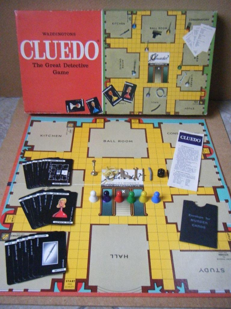Primera versión del juego bajo el nombre Clue, lanzado por Parker Brothers