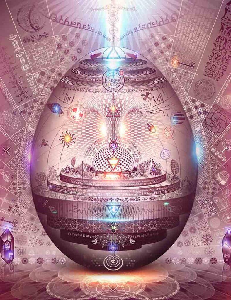 Representación del huevo de la creación