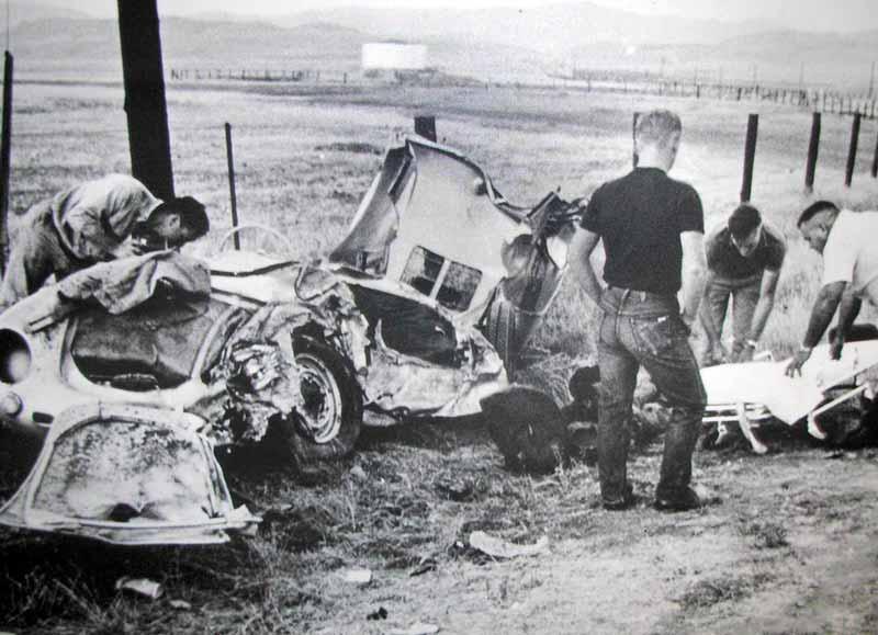 Imágenes del accidente en que James Dean perdió la vida, el 30 de septiembre de 1955