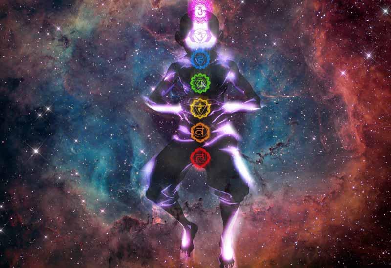 Representación de los siete chakras de Aang