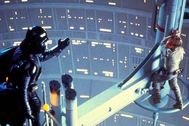 Mítica escena de Star Wars protagonizada por Luke Skywalker y Darth Vader