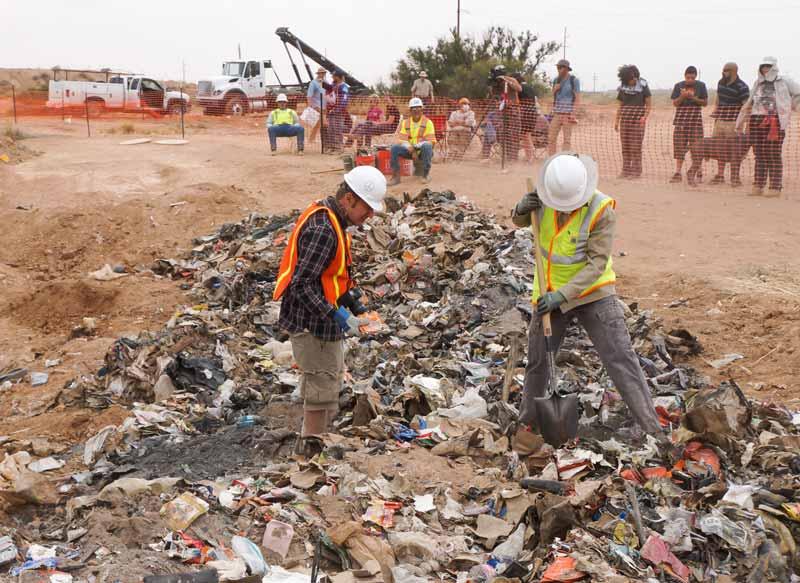 Momento de la excavación en Nuevo México, año 2014
