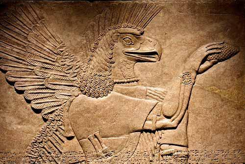Representación de un Anunnaki en las tablillas de arcilla sumerias