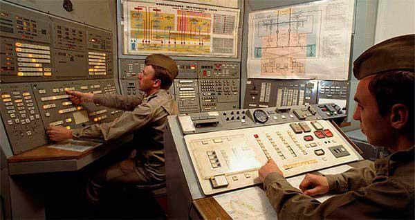 Sala de comando nuclear de la Unión Soviética