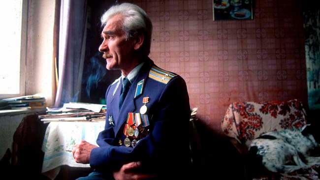 Stanislav Petrov en los últimos años de su vida